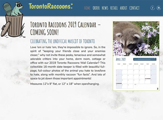 Toronto Raccoons website